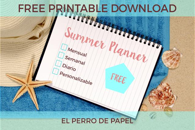 Planificador Imprimible para disfrutar de tu desconexión en verano
