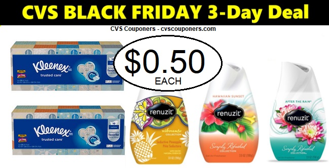 http://www.cvscouponers.com/2018/11/CVS-kleenex-renuzit-black-friday-deal.html