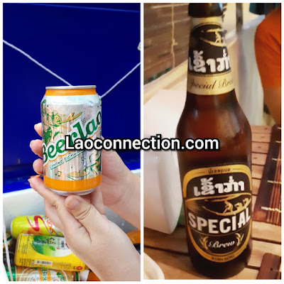 Trying out different BeerLao products