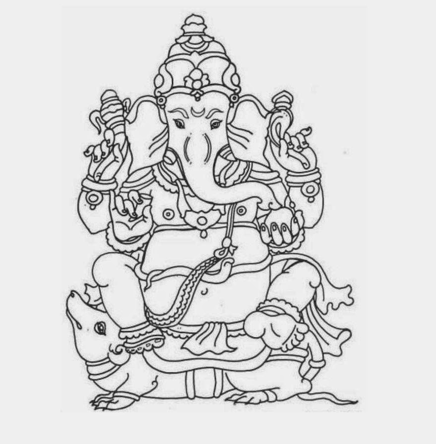 Colours Drawing Wallpaper: Lord Ganesha Colour Drawing HD