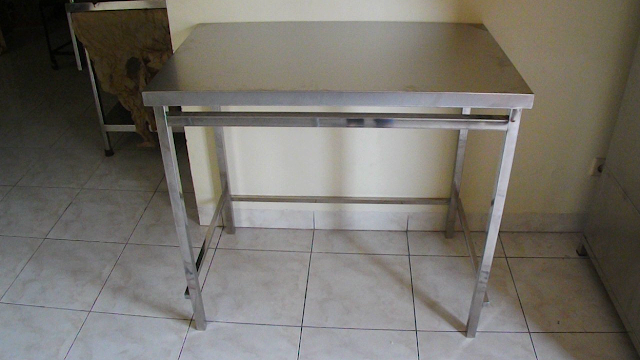 meja stainless steel 1 shelf