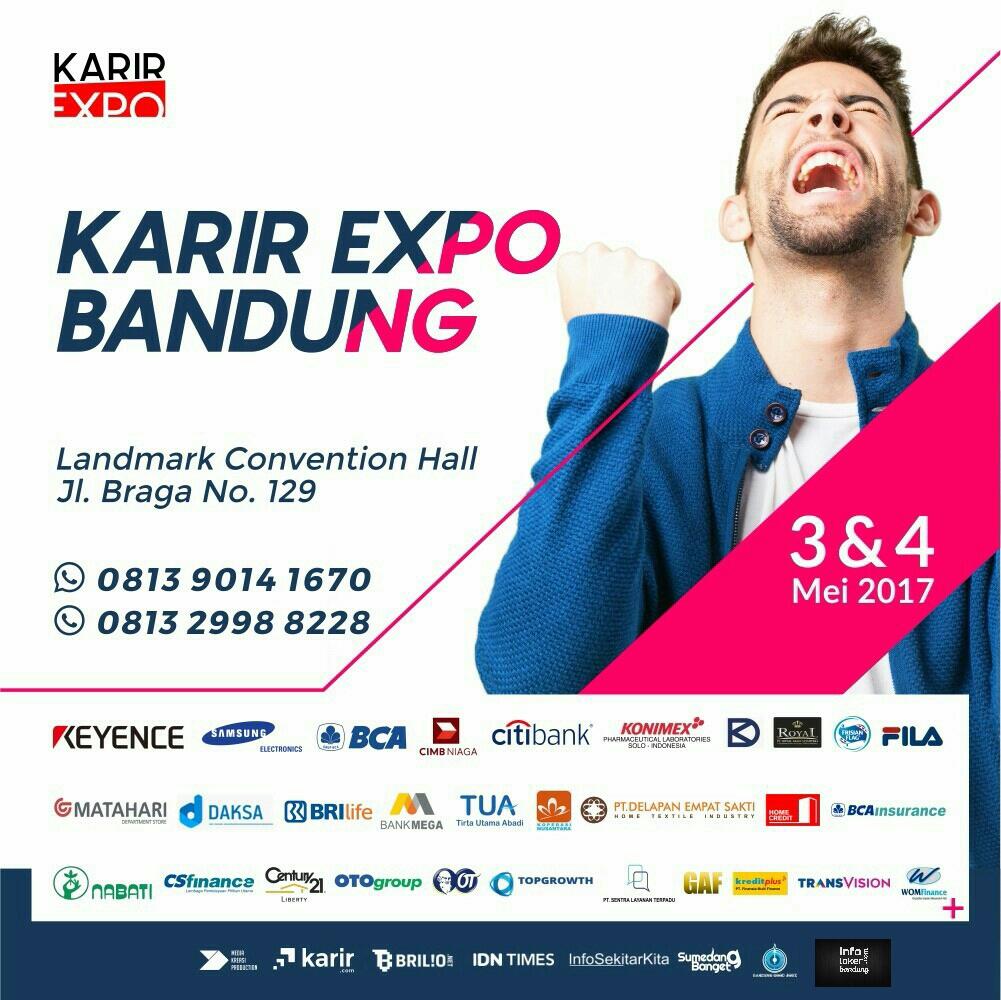 Karir  Expo Bandung Landmark Convention Hall 3 - 4 Mei 2017
