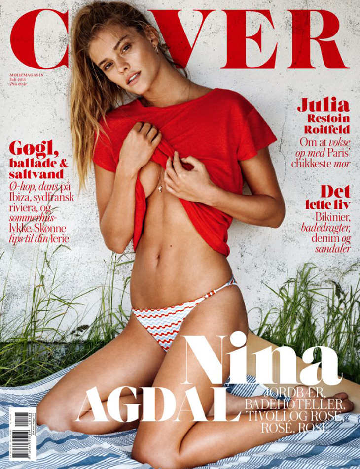 Nina Agdal shows off curves for Cover Magazine Denmark July 2015