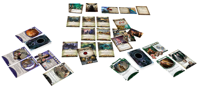Arkham Horror LCG game set up