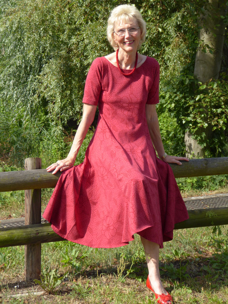 Roter Kleid