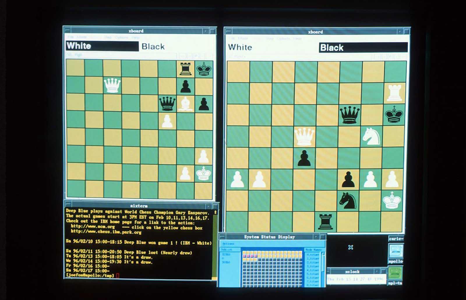 Una vista de la pantalla de Deep Blue.