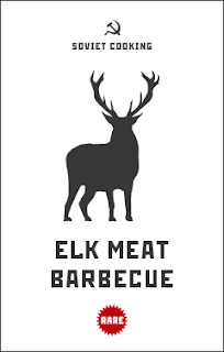 Elk meat barbecue