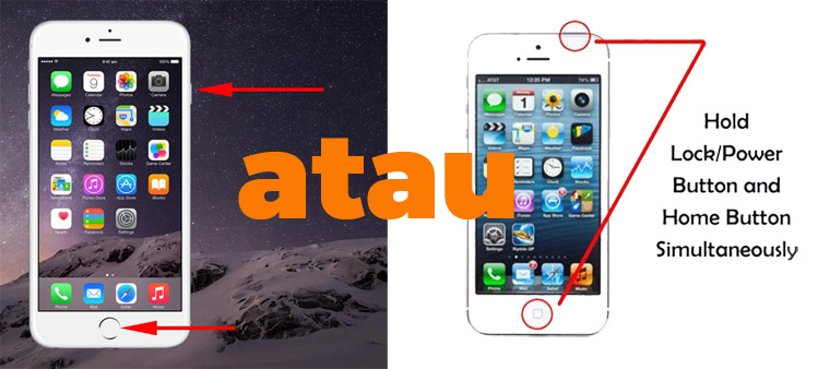 Screenshot di iPhone dengan tombol bawaan