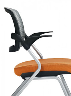 Global Spritz Flip Seat Training Room Chair