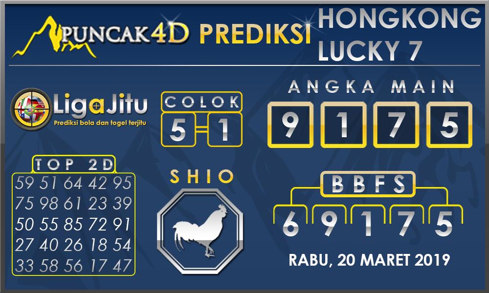 PREDIKSI TOGEL HONGKONG LUCKY7 PUNCAK4D 20 MARET 2019