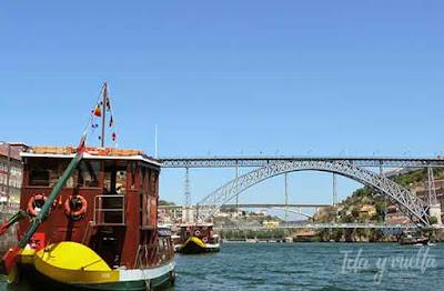 Puente Dom Luis con rabelo
