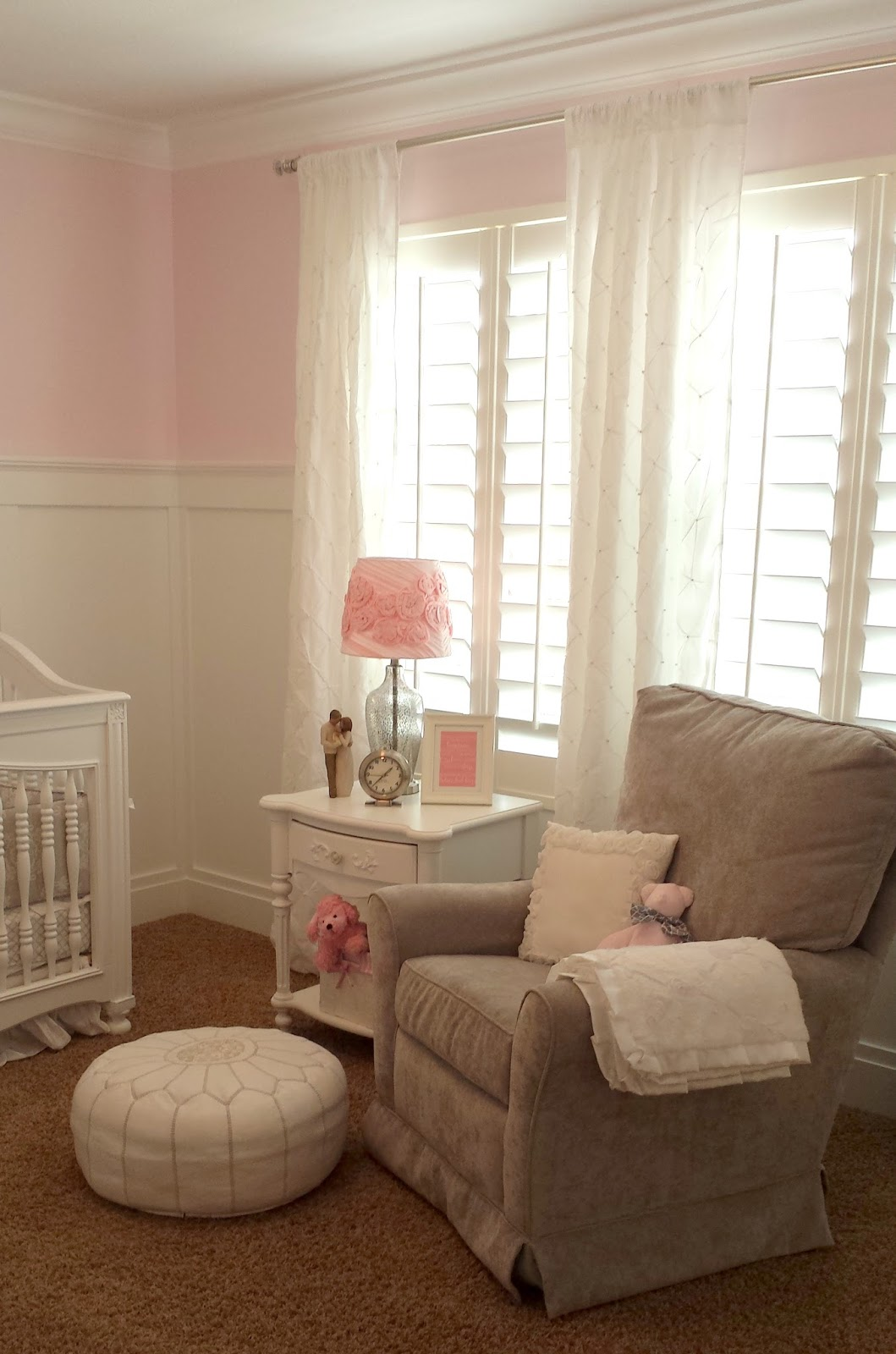 Studio 7 Interior Design Client Reveal Pink  Gray Nursery