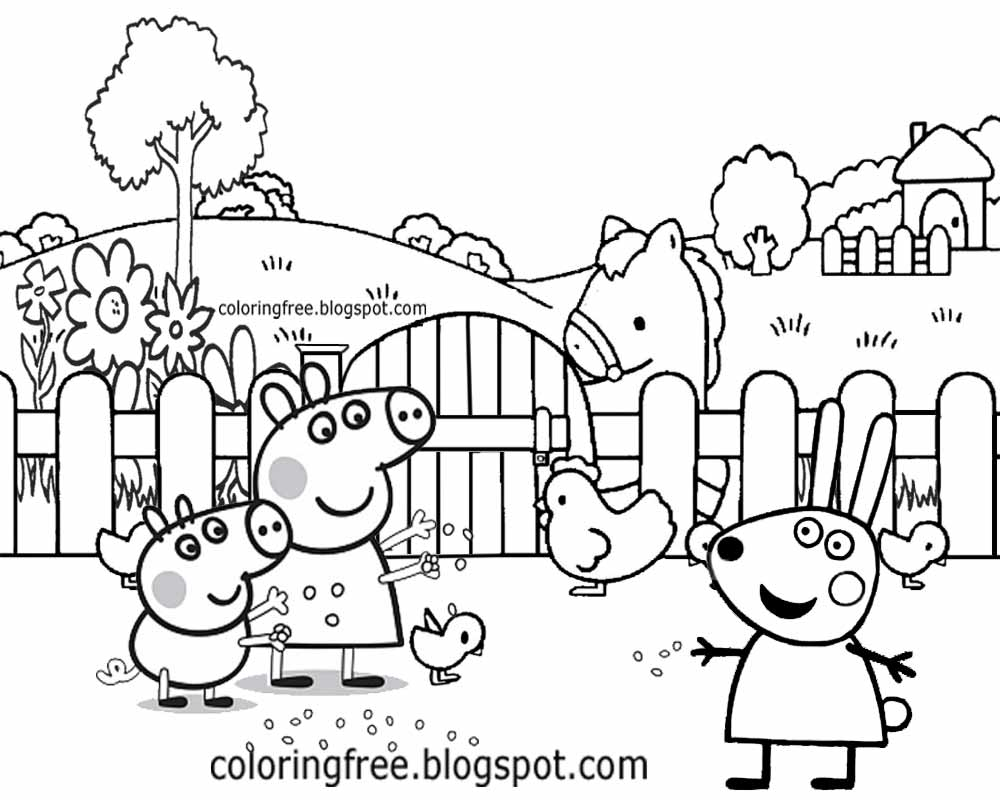 easy farm coloring page - photo #4
