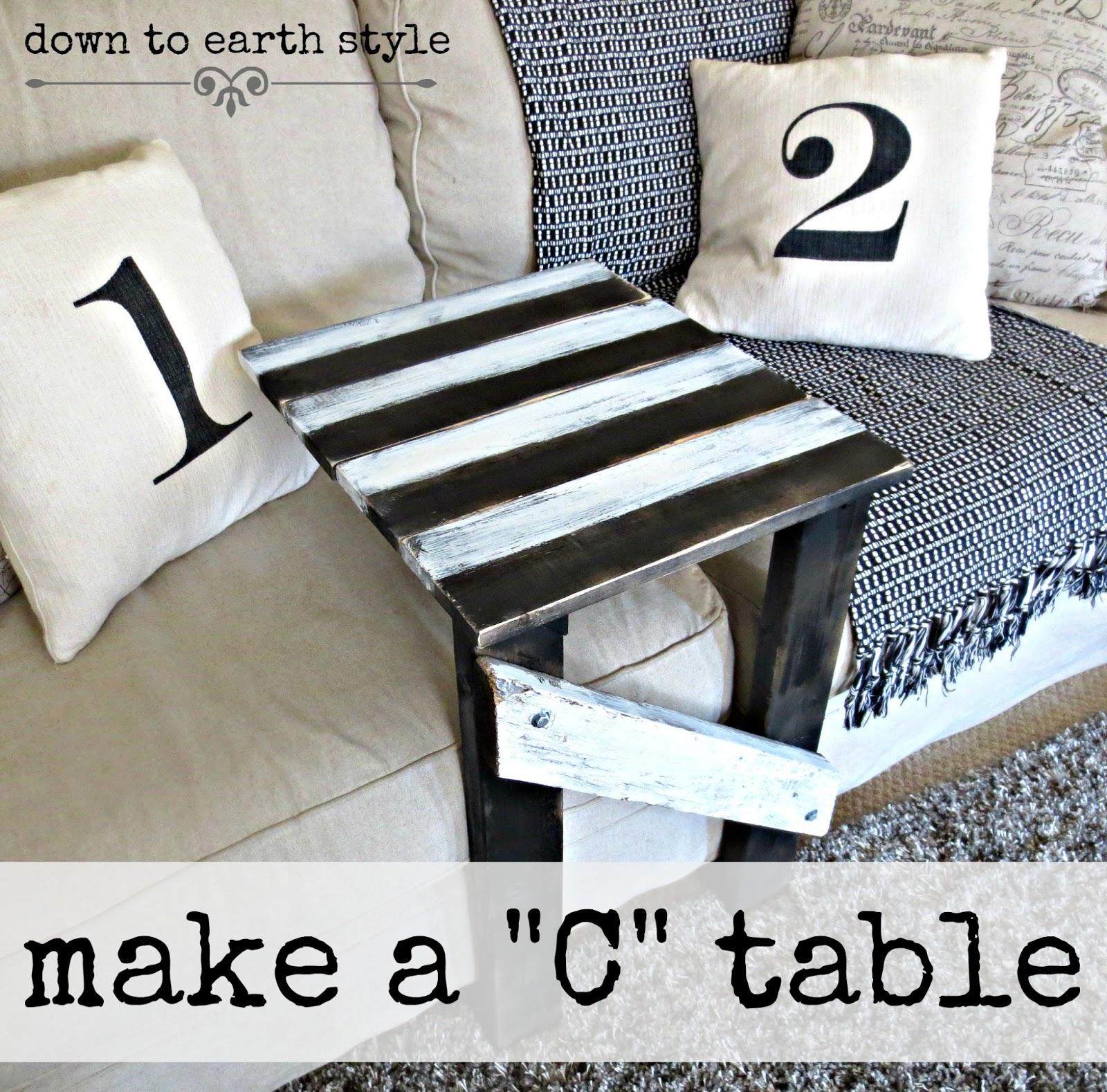"C Tables Furniture: Down To Earth Style: Make A Sofa ""C"" Table...easily"