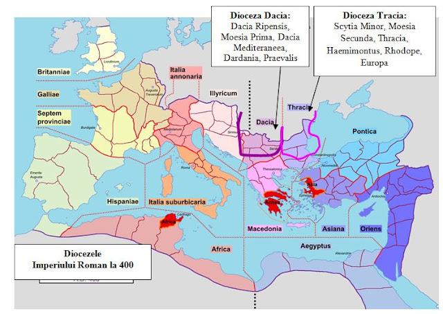 Diocezele Imperiului Roman 400