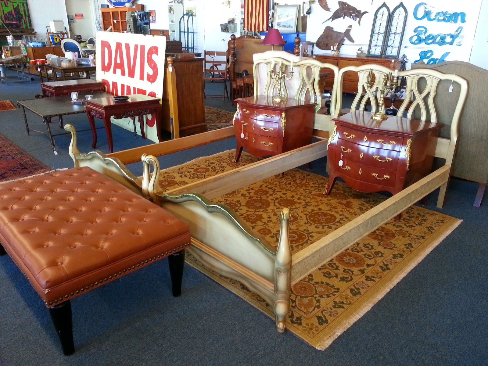 Ottoman   $165 And Pair Of Twin Beds   $225