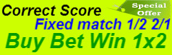 correct score fixed matches 1x2