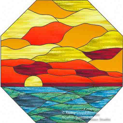 Boehm Stained Glass Blog: Octagonal Stained Glass Sunrise ...