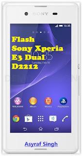 Flash Sony Xperia E3 Dual D2212 Using Flahtool