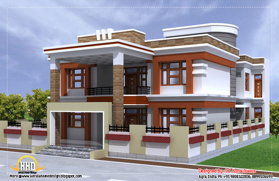 Beautiful double story house - 3350 Sq. Ft.  (311 Sq.M.) (372 Square Yards) - April 2012