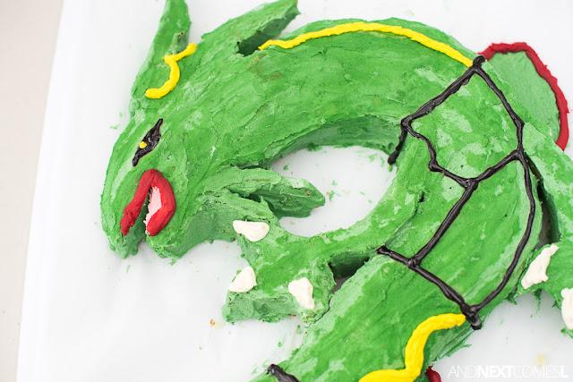 Pokemon cake tutorial for Rayquaza