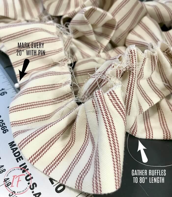 Office Chair Bolster Pillow Gathered Ruffle