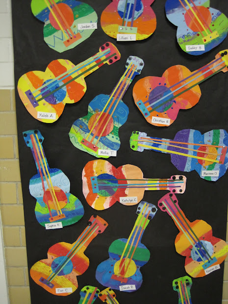 Picasso Guitar Art Lesson Elementary