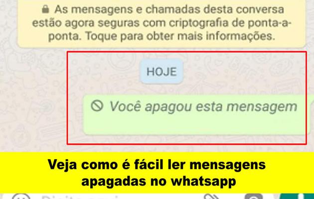 Veja como é fácil ler mensagens apagadas no whatsapp