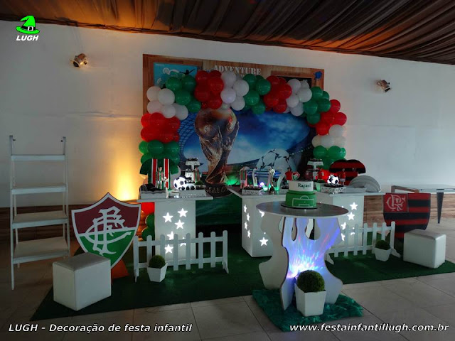 Decoração infantil provençal tema Fluminense