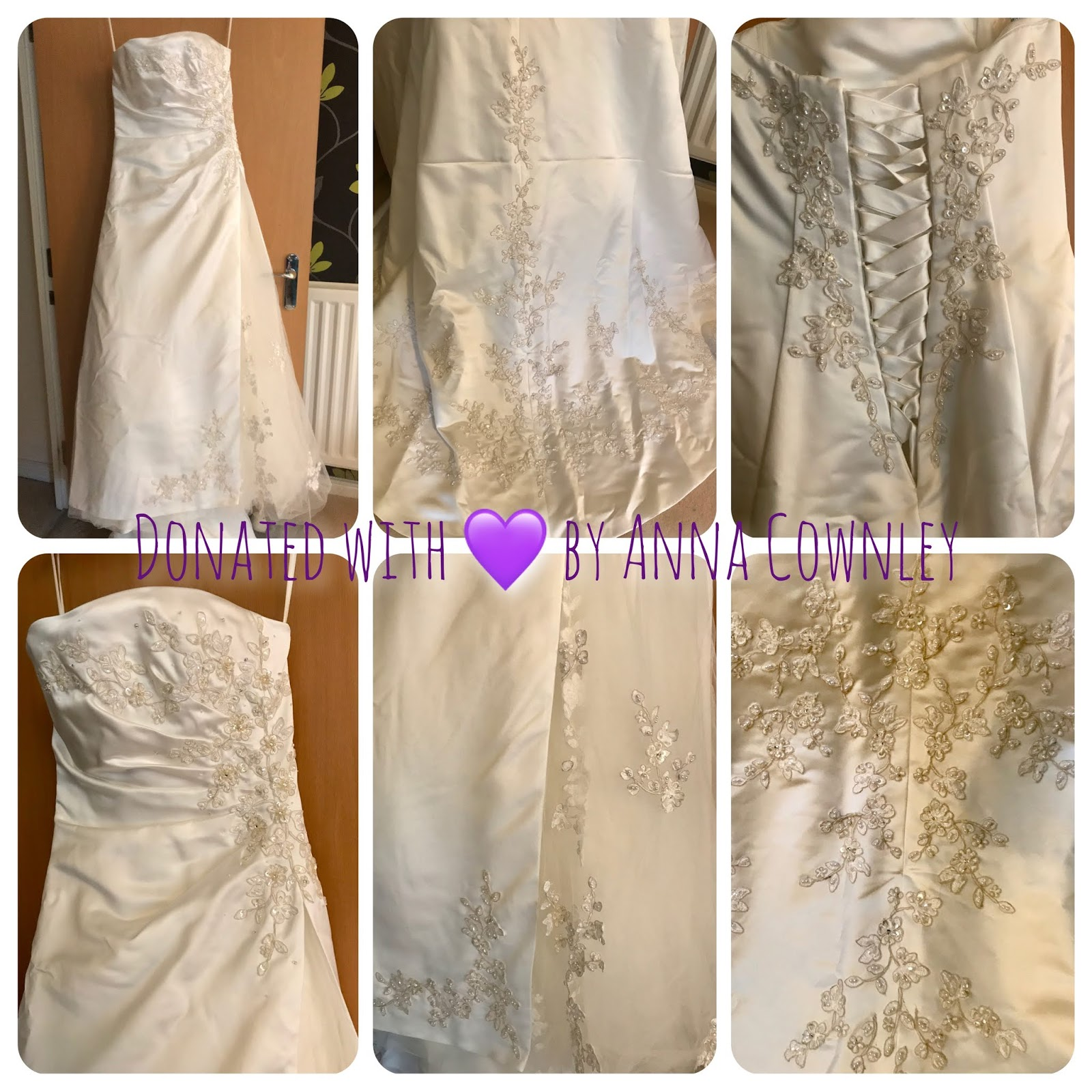 Announcement Wedding Dress Donations