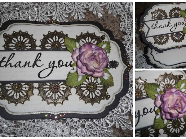 ButterBeeScraps Project - Thank you card and Stickpins