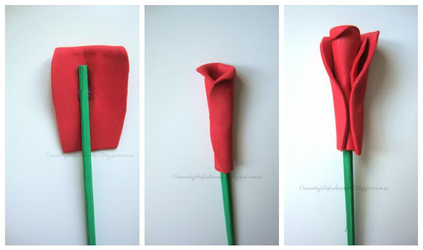 Como Hacer Rosas De Goma Eva Handbox