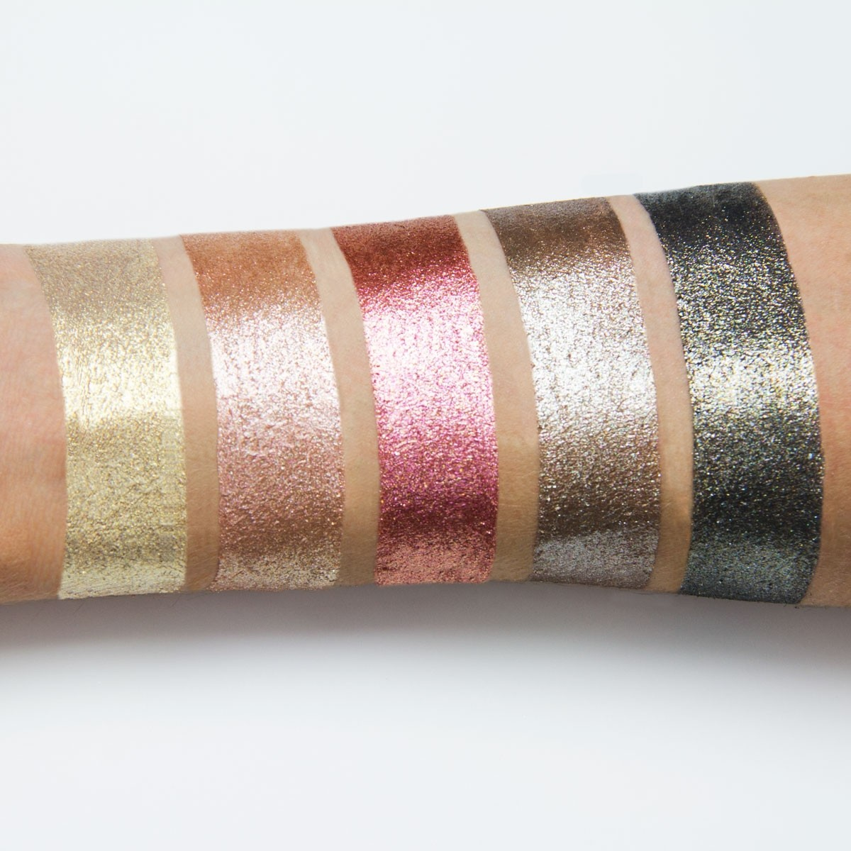 PUR Cosmetics Quick Pro Holiday Glitters swatches
