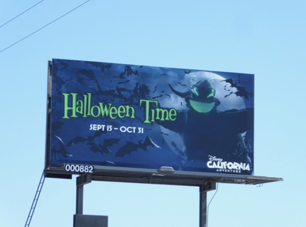 Oogie Boogie Halloween Time Disney billboard