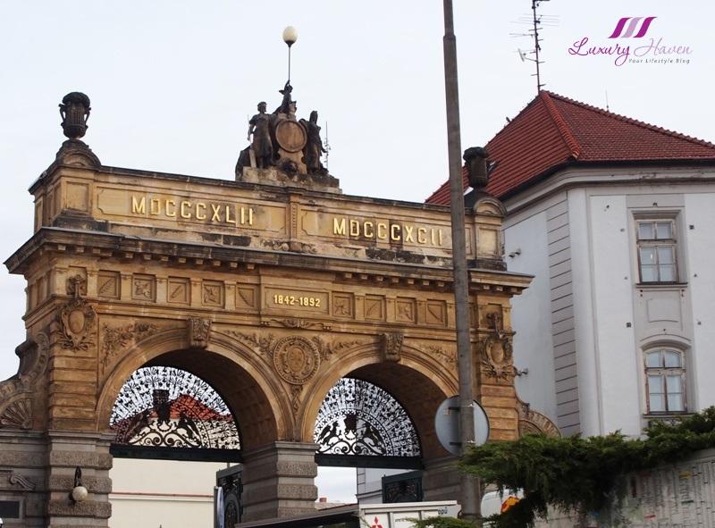 czech republic pilsner urquell neo renaissance brewery gate
