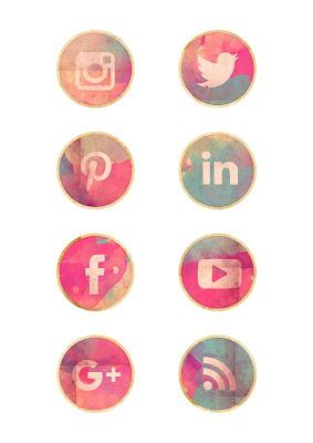 iconos redes sociales imprimible gratis. Recursos gratis para scrapbooking, agenda