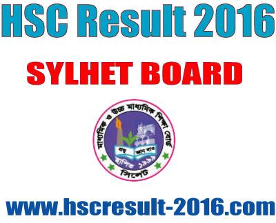 HSC Result 2016 Sylhet Education Board