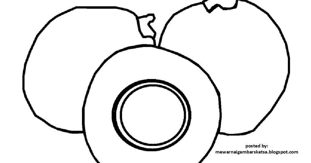 mewarnai gambar mewarnai gambar sketsa buah kelapa 1