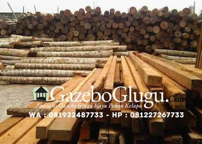Mateial Glugu Kayu Pohon Kelapa