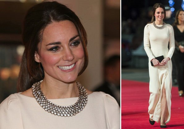 Kate Middleton effortlessly paired this modestly priced jewellery with her designer gown by Roland Mouret