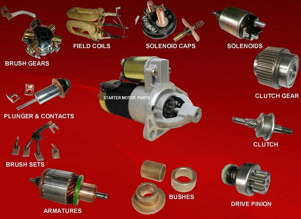 part of starter motor and their function
