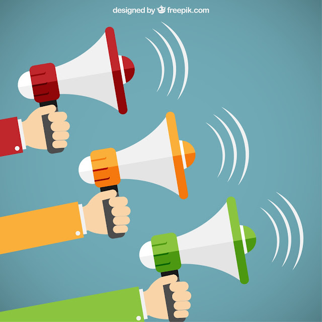 http://www.freepik.com/free-vector/hands-holding-megaphones-in-cartoon-style_765885.htm