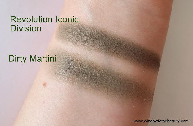 Makeup Geek Dirty Martini cheap dupes swatches