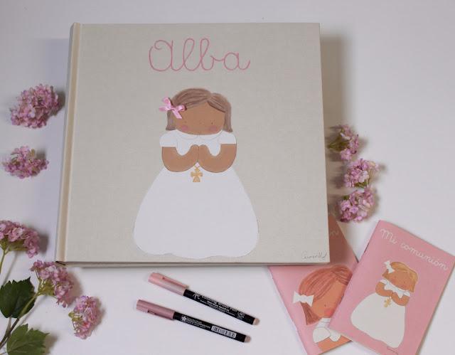álbum-fotos-comunión-infantil-personalizado- libro-de-firmas