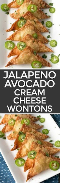Jalapeno Avocado Cream Cheese Wontons Recipe