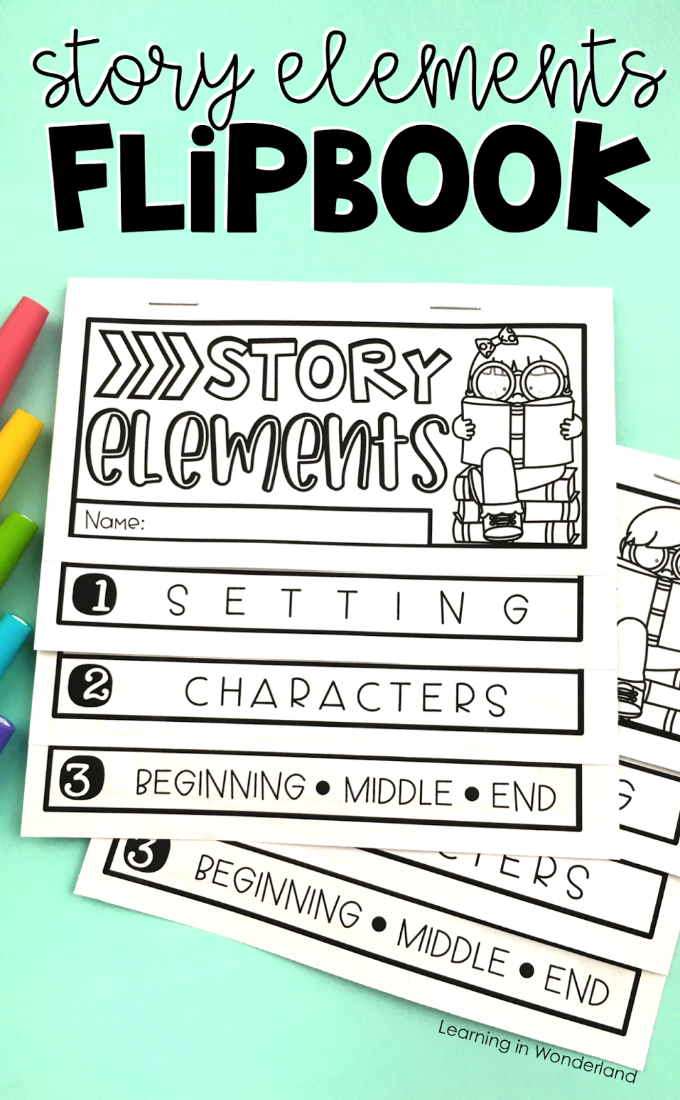 html flip book template - story elements flipbook learning in wonderland