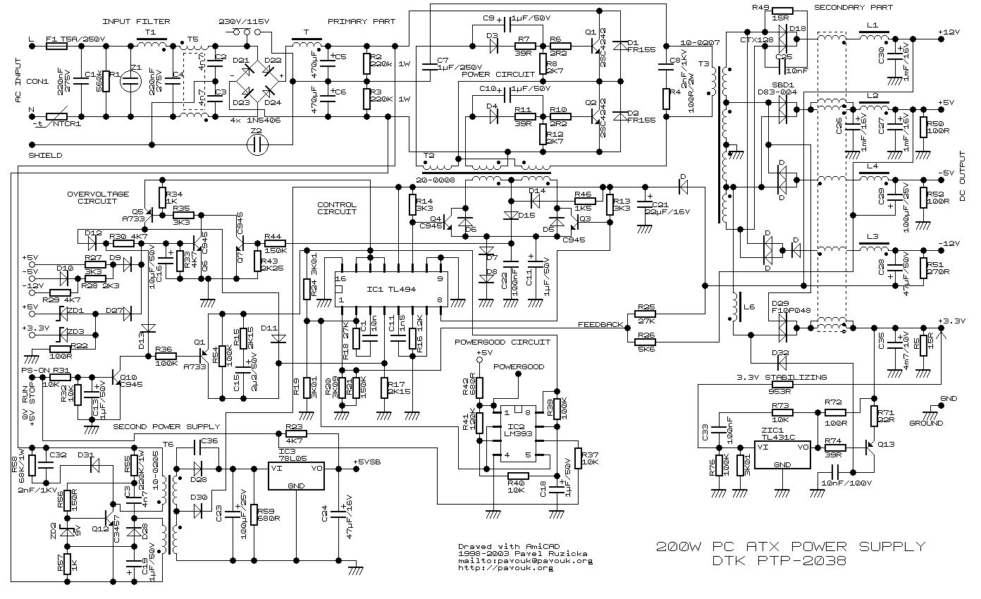 Xcb2rtech Power Supply Circuit