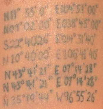 Tatuaże Angeliny Współrzędne Geograficzne