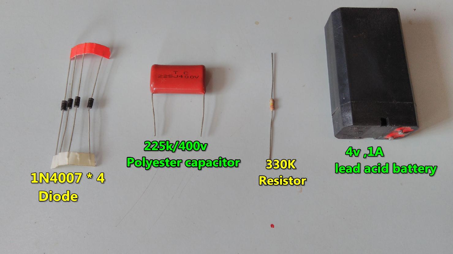 4v lead acid battery charger without transformer // 230v AC
