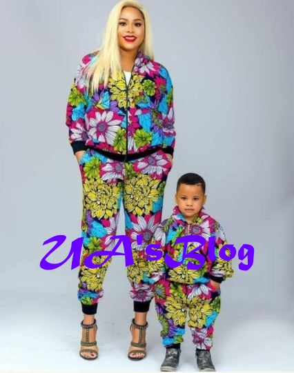 Adorable Photos Of FFK's Wife And Son In Matching Outfits